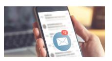 e-mail en dispositivo móvil